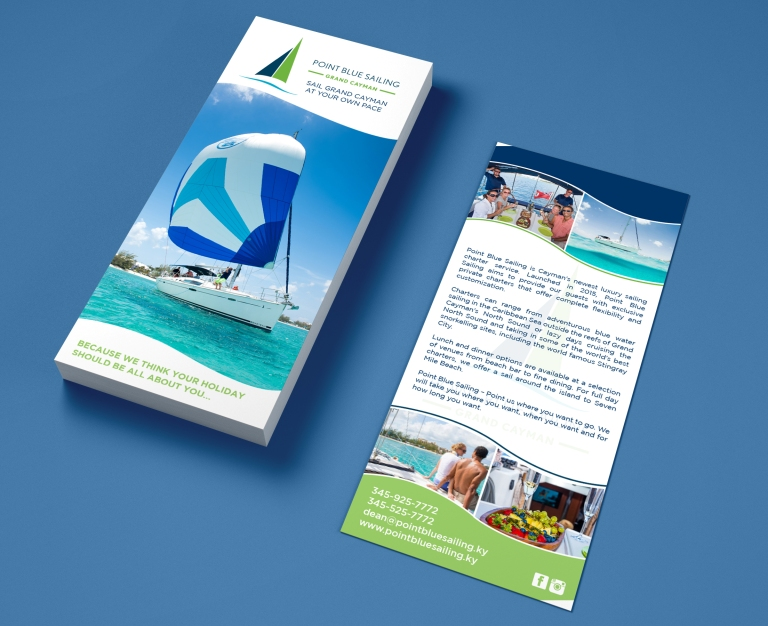 Blue Point Sailing Rack Card